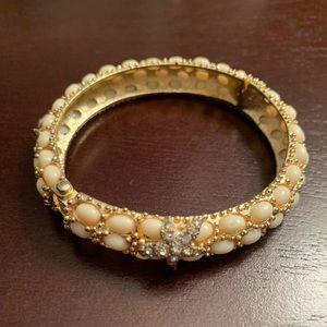 Vintage Starfish Hinged Bracelet